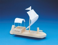 Unfinished Wooden Keel Boat, Unassembled