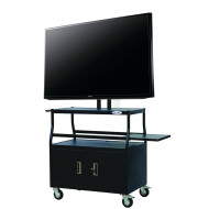 "48"" Samsung Smart TV w/ Rolling Storage Cart"