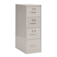VERTICAL FOUR DRAWER LEGAL FILE CABINET GRAY