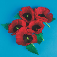 Remembrance Poppies Craft Kit (makes 50)