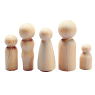 Wood Peg People (pack of 40)