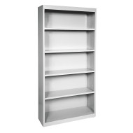 STEEL BOOKCASE 72IN