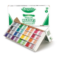 Crayola® Classpack® Markers - 16 Colors, Regular Tip  (box of 256)