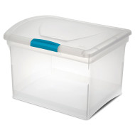 File Storage Box with Hinged Top