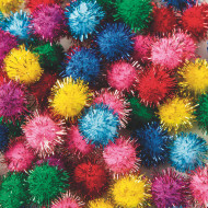 "Pom Poms 1/2"" - Glitter  (pack of 80)"