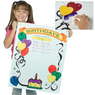 Write-On Wipe-Off Happy Birthday Poster