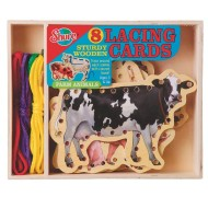 Farm Animals Picture Lacing Cards (set of 8)