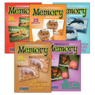 Photographic Memory Card Game, Animal Set (set of 5)