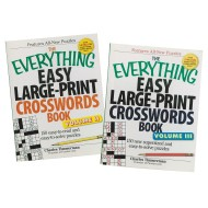 Large Print Puzzle Book Set (set of 2)
