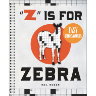Zebra Easy Crossword Puzzle Book