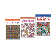Creative Haven Patterns Coloring Book Set of 3 (set of 3)