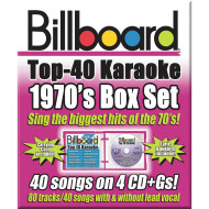 Party Tyme Karaoke CD+G Billboards 70's Box Set (set of 4)