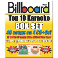 Party Tyme Karaoke CD+G Billboards Top 10 Box Set ( of 4)