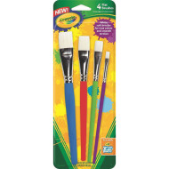 Crayola® Big Paint Brush Set, Flat (set of 4)