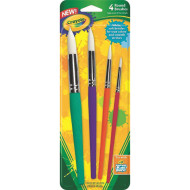 Crayola® Big Paint Brush Set, Round (set of 4)