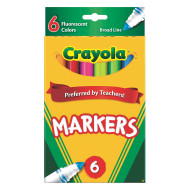 Crayola® Classic Markers - Fluorescent  (box of 6)