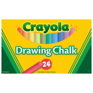 Crayola® Drawing Chalk, Assorted Colors (pack of 24)
