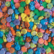 Retro Love Beads 1/2lb Bag (bag of 250)