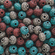 Moroccan Bead Assortment 1/2-lb Bag