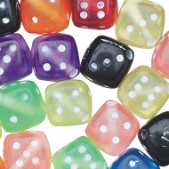 Assorted Dice Beads 1/2-lb Bag