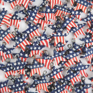 Patriotic Flag Beads (bag of 100)