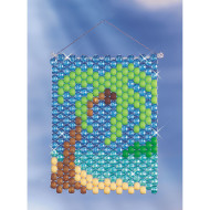 Beaded Banner Weaving Kit, Palm Tree