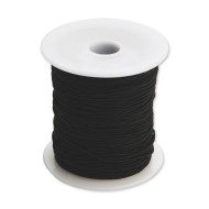 Black Medium Elastic Cord, 100 Yard