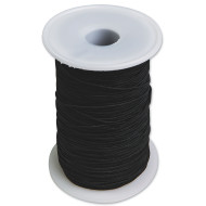 Heavy Black Elastic Cord 144yds.