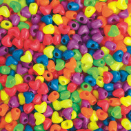 Neon Heart Pony Beads 1-lb Bag
