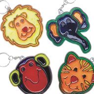 Zoo Sun Catcher Key Chains© Craft Kit (makes 12)