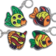 Fish Sun Catcher Key Chains Craft Kit (makes 12)