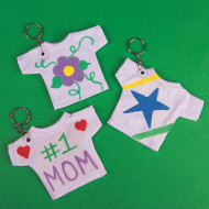 T-Shirt Key Rings Craft Kit (makes 12)