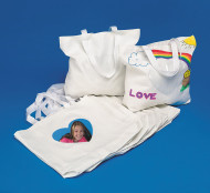 Color-Me™ Bags with Heart Photo Pocket (makes 12)