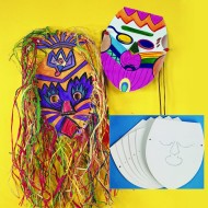 Blank Cardboard Face Masks  (makes 25)