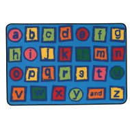 Alphabet Blocks Kids Value Rug