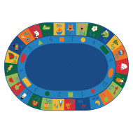 Learning Blocks Oval Primary Colors Carpet