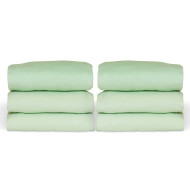 Crib Sheet, Mint (pack of 6)