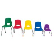 "Stackable School Chairs, 12"", Case of 6"