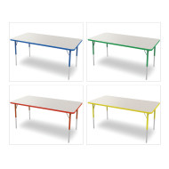 "Marco® Activity Tables, Gray Top, 30""x48"" 21-30""H"