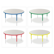 "Marco® Activity Tables, Gray Top, 48"" Round 21-30""H"