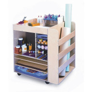 Mobile Art Supply Cart