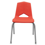 Marco Chair, Red Shell Chrome Frame