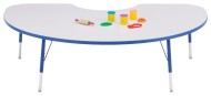 "Rainbow Accents® 48""x72"" Kidney Table, 15-24""H"