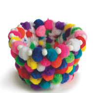 Pom Pom Party Baskets Craft Kit (makes 12)