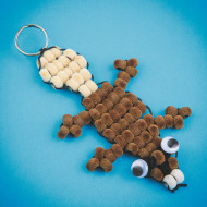 Fuzzy Beaver Pony Bead Craft Kit (makes 12)
