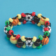 Sports Bead Bracelet Craft Kit (makes 12)