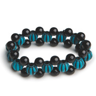 Turquoise Bead Bracelet Craft Kit (makes 12)
