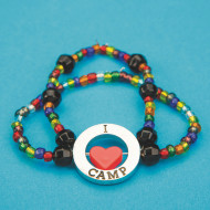 "I ""Love"" Camp Bracelet (makes 24)"