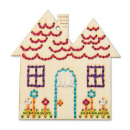 Handmade Charlotte™ Stitchable House Craft Kit (makes 12)