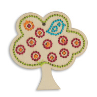 Handmade Charlotte™ Stitchable Tree Craft Kit (makes 12)